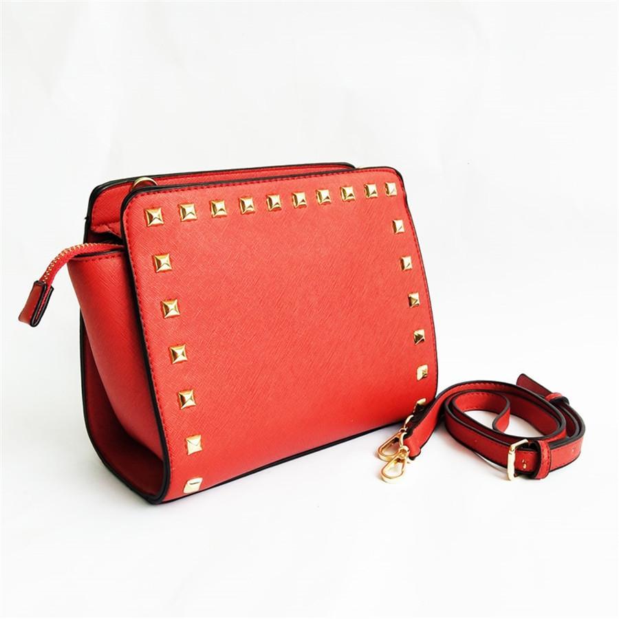 2020 Estilos del bolso del diseñador famoso Marca Moda de cuero bolso bolsas de las mujeres del remache de hombro de la señora de cuero bolso Bolsas 010 # 919
