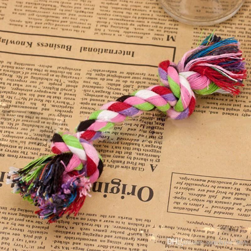 2018 Sıcak satış evcil hayvan bakım ürünleri Pet Köpek Yavru Pamuk Knot Oyuncak Dayanıklı Örgülü Kemik Halat 16cm Komik Aracı Drop Shipping Chew