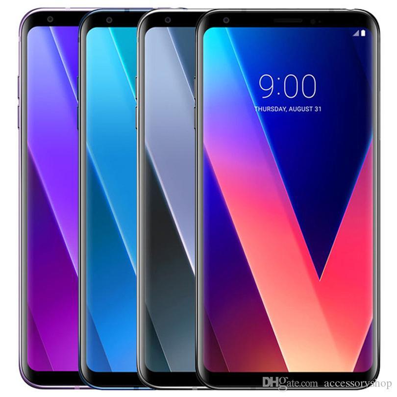 تجديد الأصل LG V30 H930 H931 6.0 بوصة الثماني الأساسية 4GB RAM 64GB ROM 16MP مفتوح 4G LTE الذكية الهاتف الخليوي الجوال DHL مجاني 10pcs