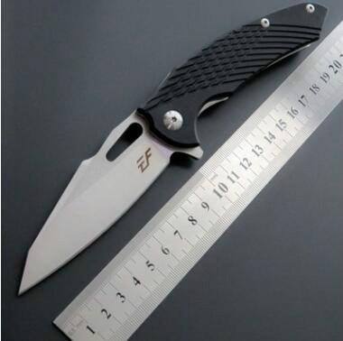 eafengrow EF28 D2 G10 de la lámina manija cojinete de bolas táctica de caza plegable del cuchillo de herramientas multi cuchillo del regalo supervivencia del bolsillo de navidad