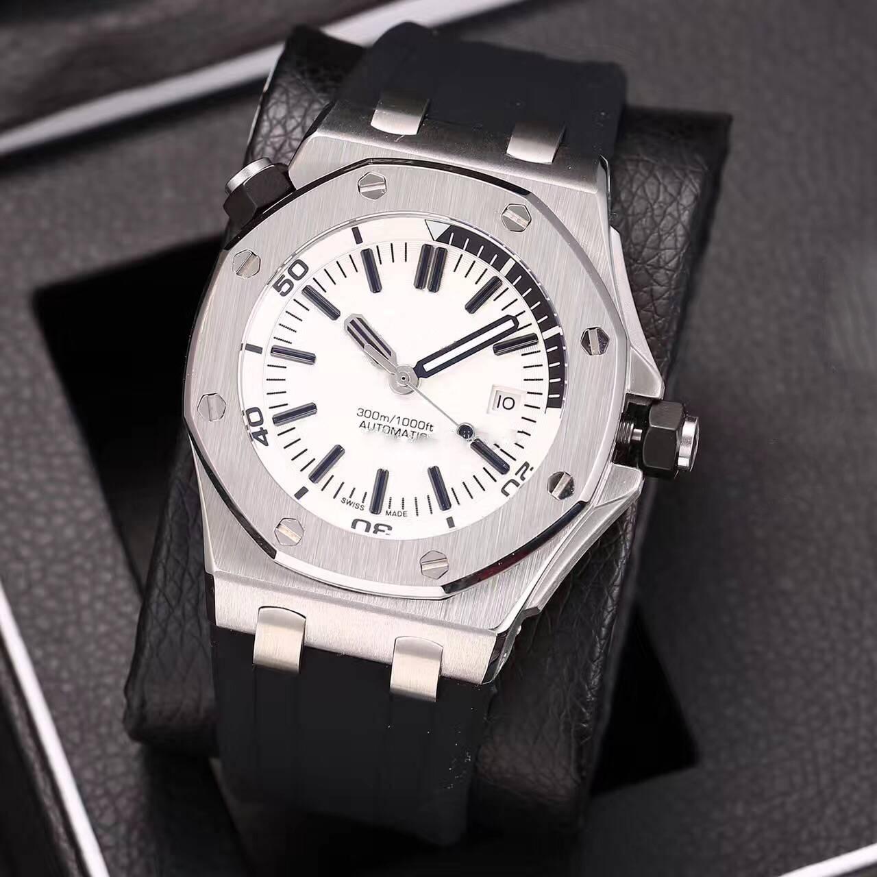 les hommes de montres de luxe Big Sell 42mm watch machines balayage automatique mouvement horloge montre Faux montres 002