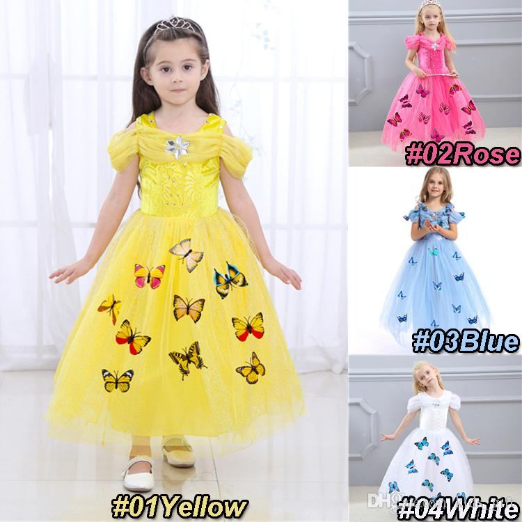 4 Cores Halloween Bebê Bebê Borboleta Borboleta Princesa Dress Snowflake Diamante Borboleta Meninas Vestidos Crianças Roupas De Designers DHL JY178