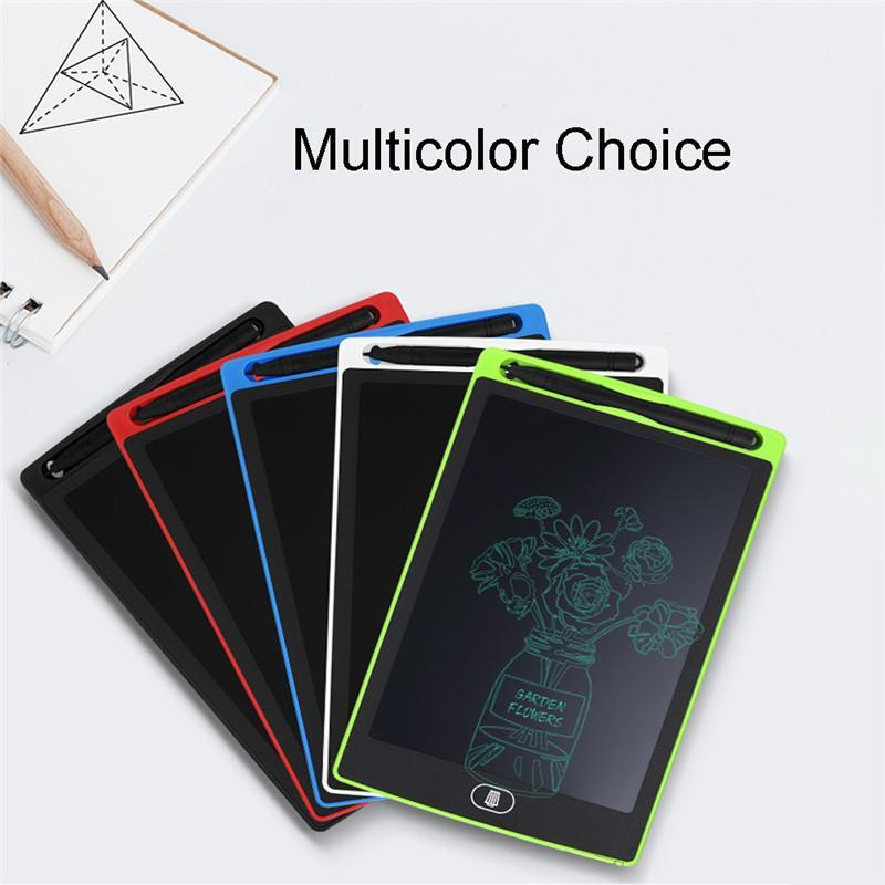 8,5 polegadas Digital Writing Tablet placa apagável desenho eletrônico LCD com caneta Stylus para crianças e Note.