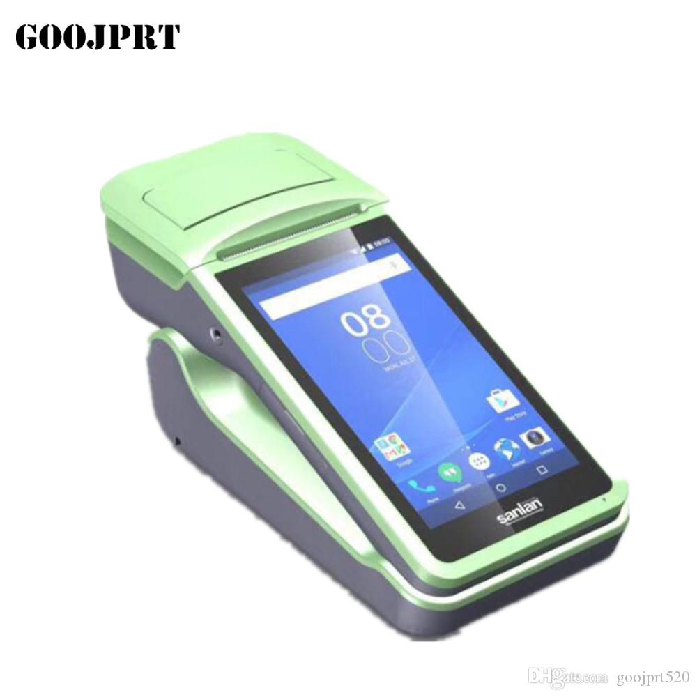 Android Mini Terminal with Printer All in One Android Restaurant Touch Screen System JP P1S