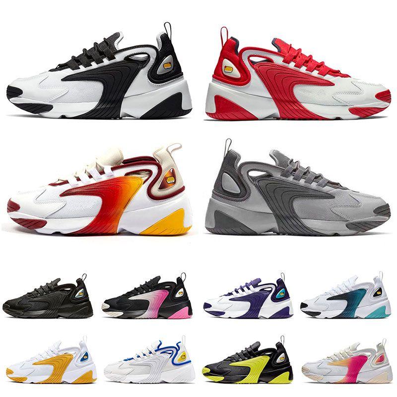 Compre Nike M2k Cheap Zoom 2K ZM 2000 Estilo Dos Anos 90 Estilo De Vida  Meninas Womens Running Shoes Branco Preto Instrutor Azul Dos Homens Do  Desenhista Tênis Ao Ar Livre Sapatos