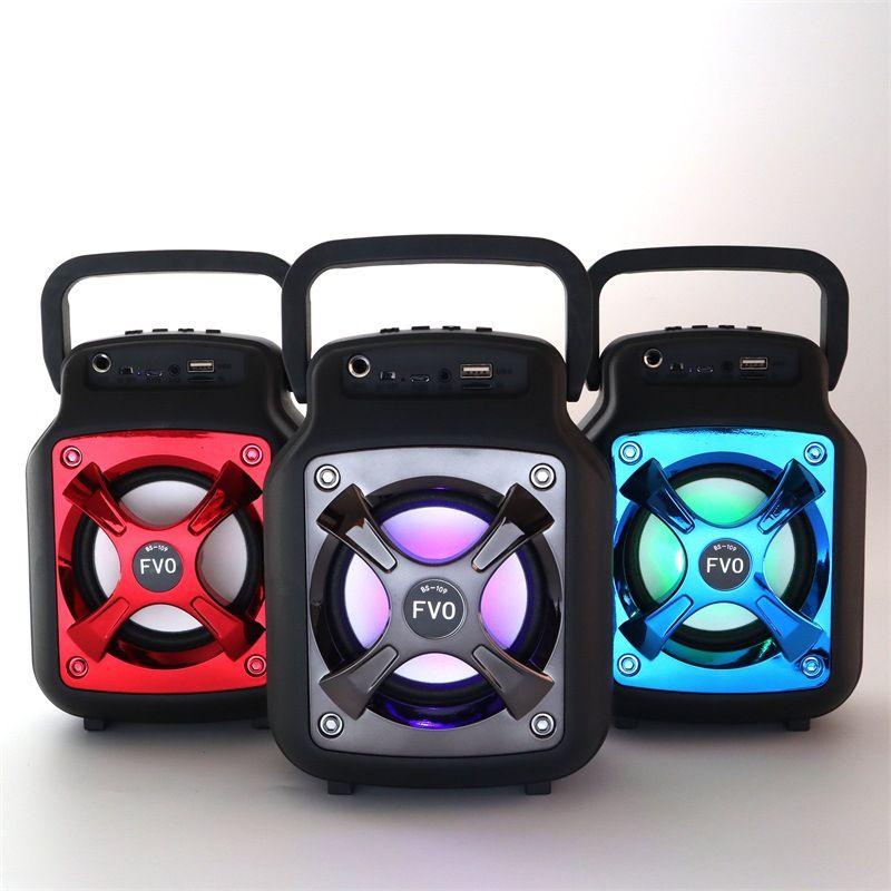 Outdoor-Handtasche Bluetooth Lautsprecher neuen Square Dance Audio-Karte Wireless großen Subwoofer Handyhalter DHL frei
