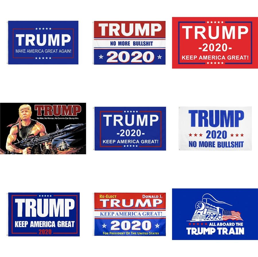 90X150Cm Trump 2020 Флаг печати Keep США Great Banner Decor Для президента США Выборы No More Bullshirt Donald Флаг A044 # 528