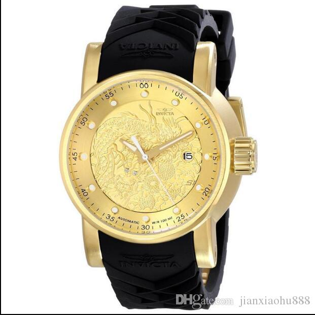 2019 Última versão Suíça COSC alta qualidade Perfeito marca INVICTA Grande mostrador do relógio de quartzo de aço inoxidável dos homens multifunções Luminous