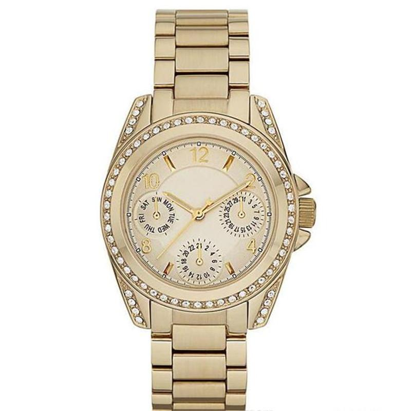 Envío de la gota M5612 M5613 M5639 mujeres de calidad superior de cuarzo diamante del reloj Relojes del reloj de acero inoxidable + caja original