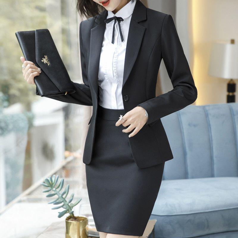 2019 formale rock anzüge frauen business arbeit jacke hose set mode lässig blazer büro dame weibliche kleidung frühling sh190827