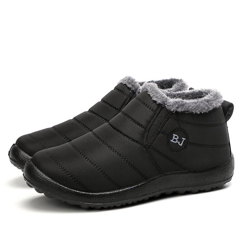 Nova Moda Masculina Inverno Sapatos Sólidos Neve Cor Botas Plush Dentro antiderrapante Manter quentes de fundo impermeável botas de esqui