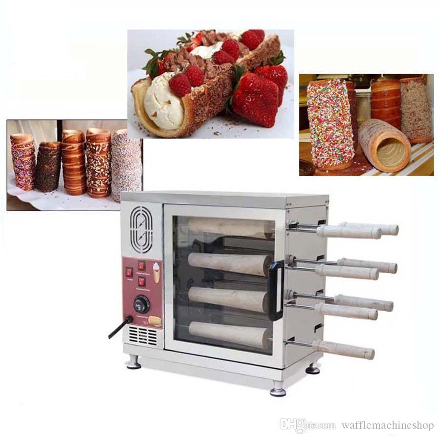 Popüler Macaristan Baca Kek Fırın Ticari Otomatik Elektrikli Baca Rulo Kek Fırın Ekmek Rulo Makinesi 110 V 220 V
