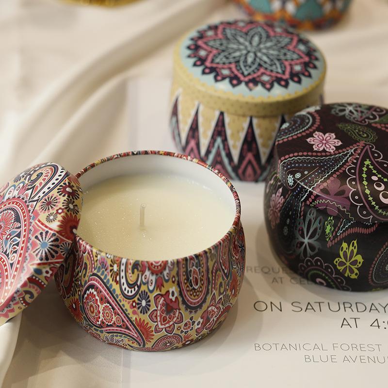 Relax Smokeless Duftkerze Massage RetroTinplate Dosen Pflanze Ätherisches Öl Wohltuende Körper Home Decoration Geschenke Alles Gute zum Geburtstag