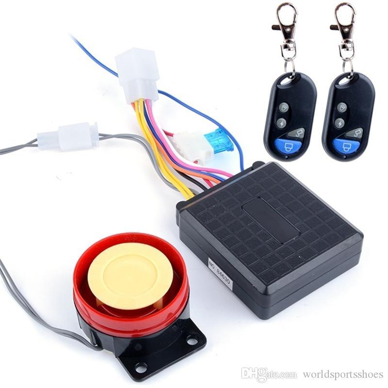 12V Motorcycle Bike Warner Anti-theft Security Alarm System Remote Control Alerter #524842