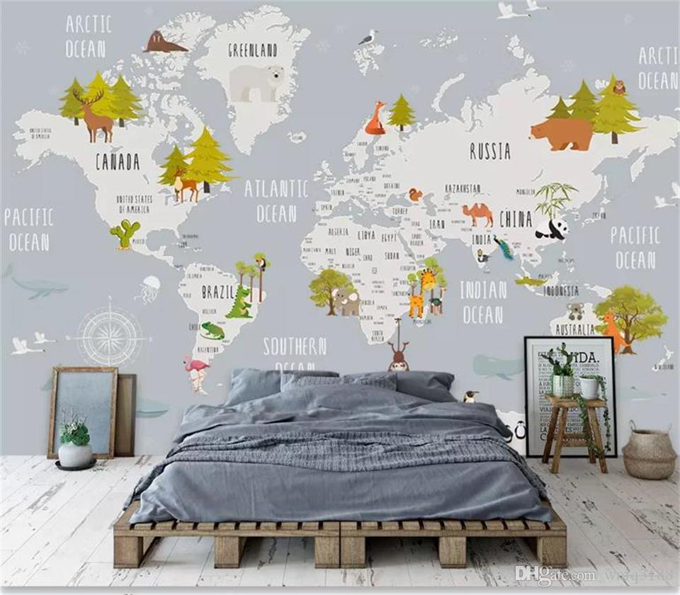 Custom Size 3d Photo Wallpaper Kids Room Mural Cartoon Animal