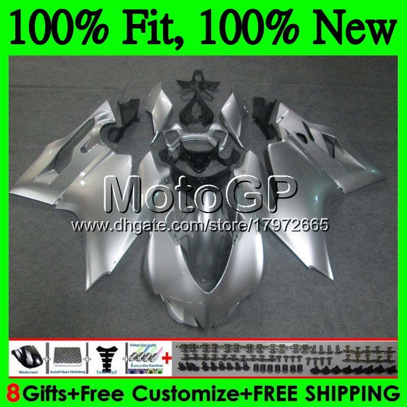 Тело инъекции для Ducati 1199R 899р 899 1199 12 13 14 15 16 15GP10 899S лоск серебра с Р 1199S 2012 2013 2014 2015 2016 обтекателя кузова