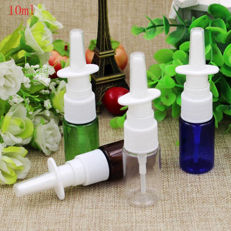 (100pcs) 10ml Spray leere PET-Mini-Flasche aus Kunststoff Nasenzerstäuber Flaschen Spray, 10cc Reisegröße klar Nebel Sprühflasche