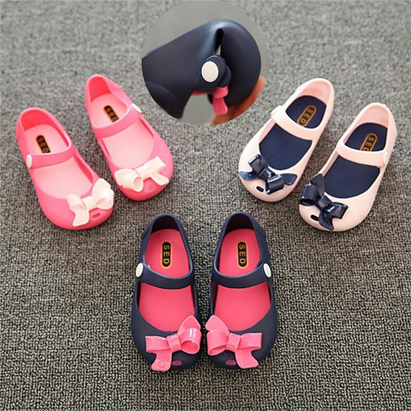 유아 신생아 아기 소녀 미끄럼 플라스틱 꽃 나비 여름 버클 신발