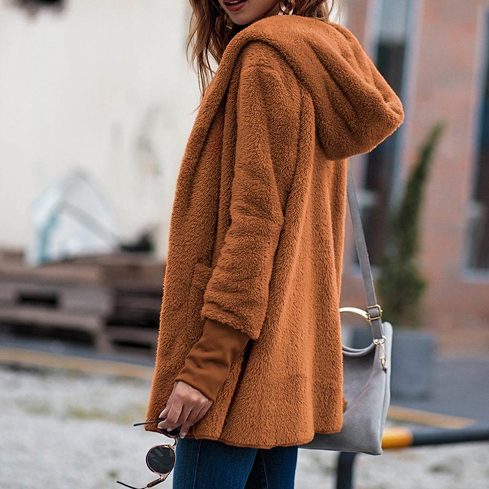 Chaquetas para mujer Abrigos para mujer Señoras Invierno Invierno Frente Frente Fashion Autumn Solid Pullover Capucha