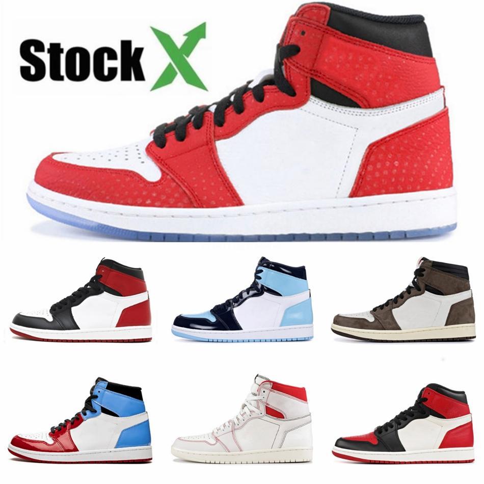 2020 новых людей Jumpman 1 Низкий Баскетбол обувь 1S Черный Toe суд Фиолетовый Разрушенные Дизайнер щиты, Спортивная обувь Мода кроссовки # QA254