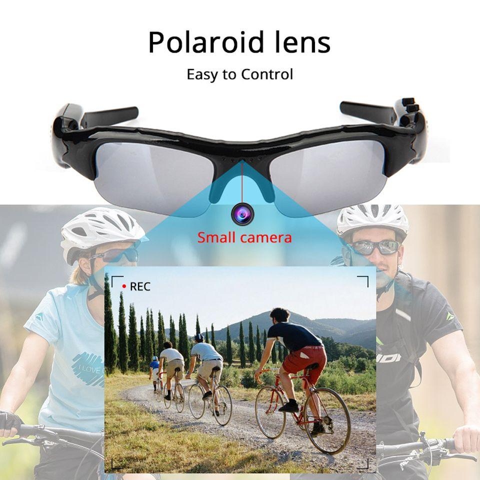 Gafas de sol con cámara Mini HD cámara de vídeo grabadora de voz para bicicleta micro Deportes Sung lasses grabadora de leva de la cámara de conducción