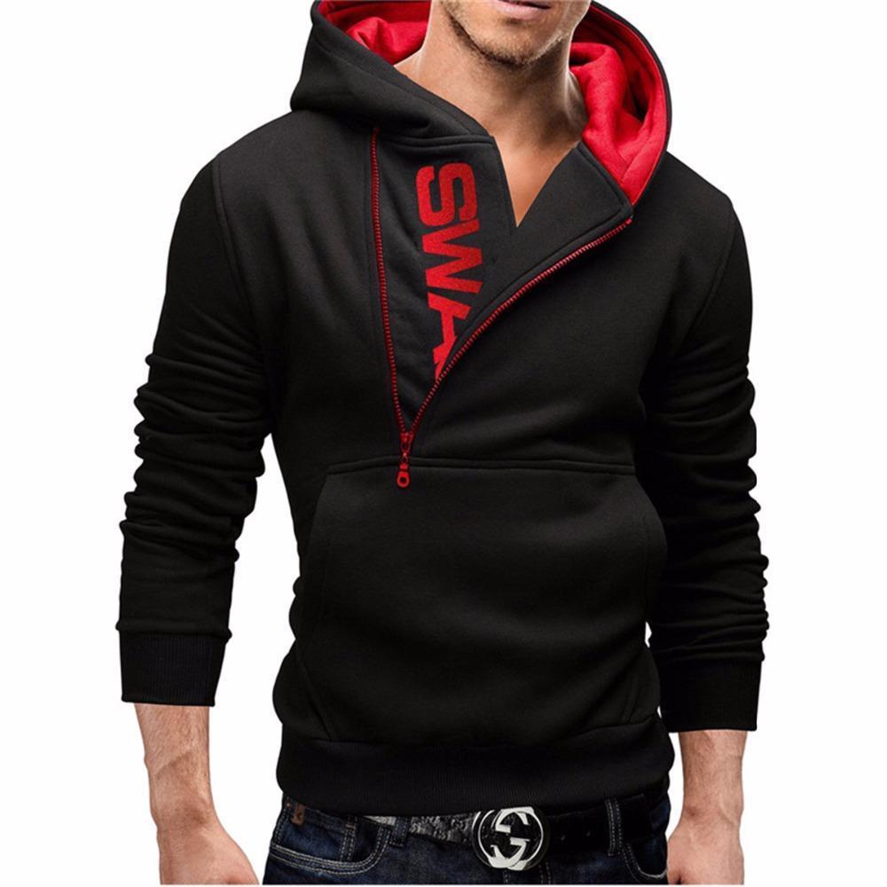 어 ass 신 크리드 후드 남성 패션 브랜드 지퍼 편지 인쇄 스웨터 힙합 운동복 후드 재킷 스트리트 블랙 까마귀