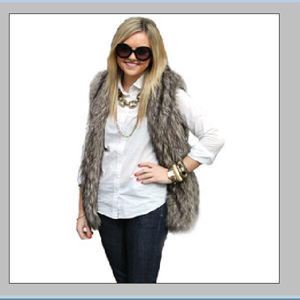 New Winter Women Faux Fur Coat Moda Długa Kamizelka Futro Trench Płaszcz Kamizelki Kurtki Kobiety Płaszcz Damski Dziewczyny Odzieży W44