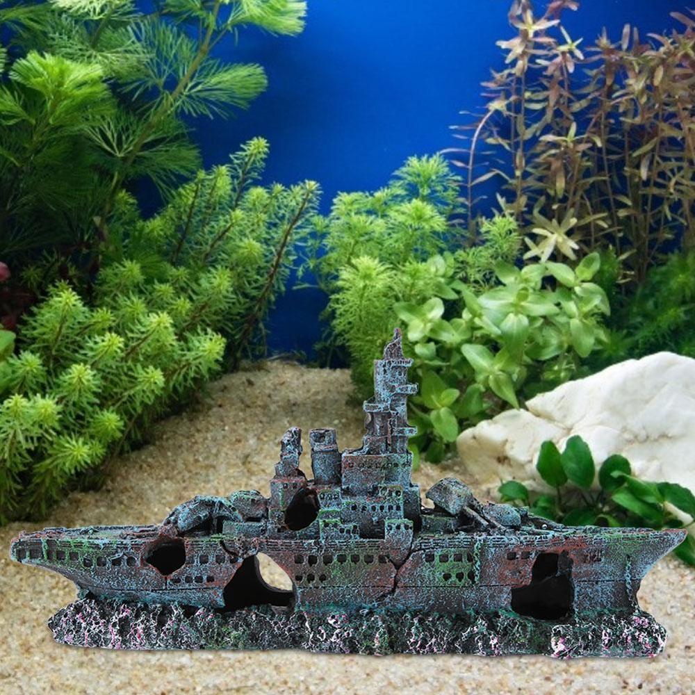 2020 Fish Tank No Fading Resin Ship Mini Fish Tank Pirate Boat Ornaments For Home Garden Aquarium Decoration Garden Decor From Jurassicstore 44 26 Dhgate Com