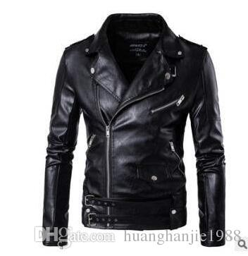 メンズブランド機関車用革のジャケットファッションパーソナリティコートオートバイ服/ M-5XL
