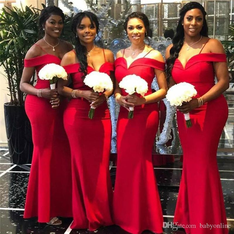 Red Summer Bridesmaid Dresses