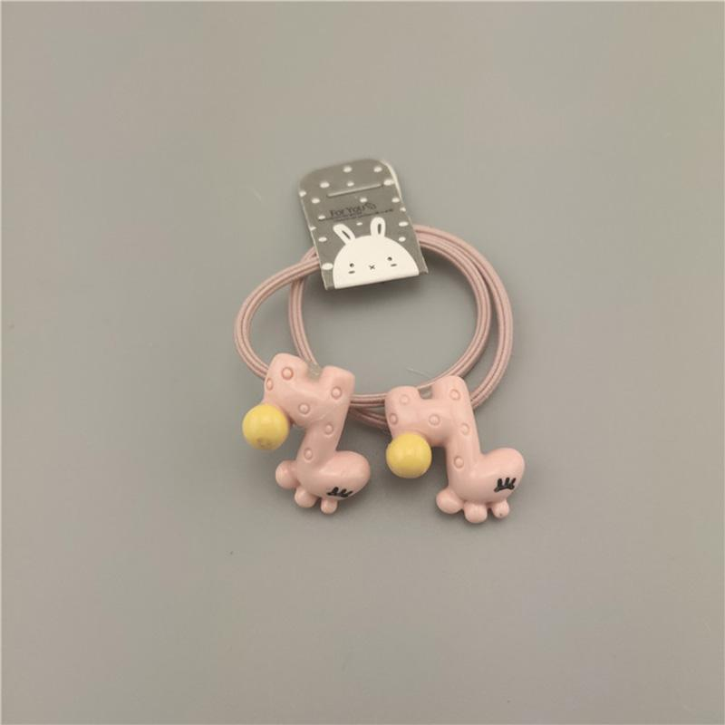 Coréen animaux Petites filles Bandeaux élastiques étoile lapin éléphant queue de cheval titulaire Chouchous cravate cheveux corde