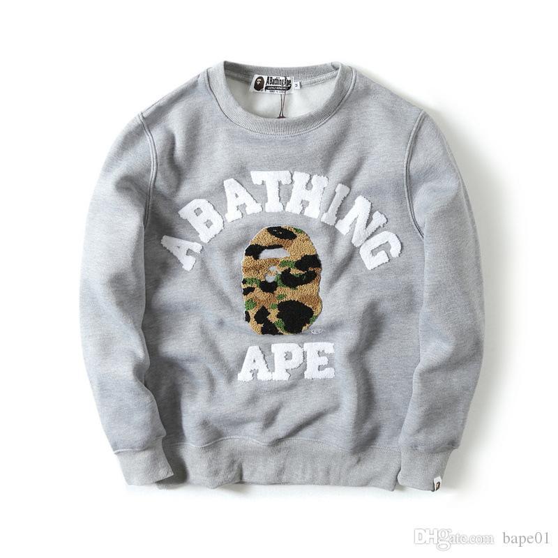 BAPE 유명한 남성 스타일리스트 까마귀 남성 여성 스타일리스트 긴 소매 재킷 남성 높은 품질 캐주얼 후드 스웨터