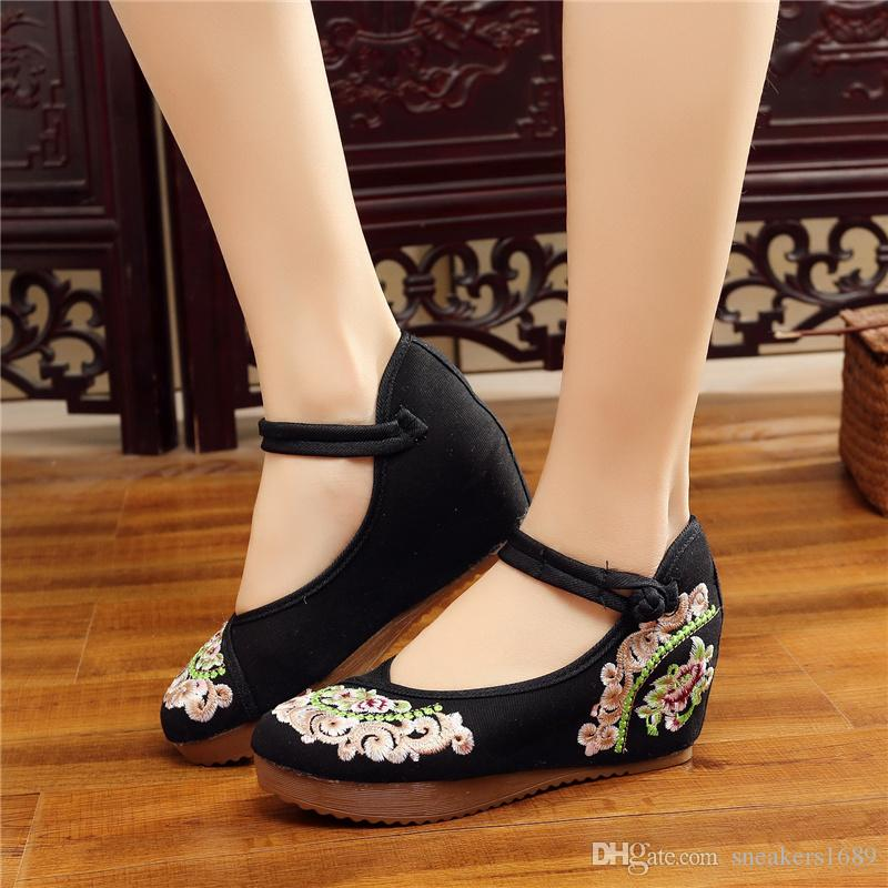 Damen Pumps High Heels Retro Style Schnalle Damen Party erhöhte interne Schuhe Dicke Ferse Weibliche Schuhe Größe 34-41 X90