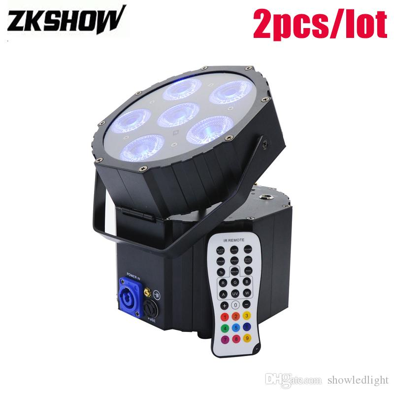 80% Off 6*15W Rechargeable Battery Wireless DMX LED Par Light DJ Disco Disko Party Stage Lighting Effect DMX Controller Luces Discoteca