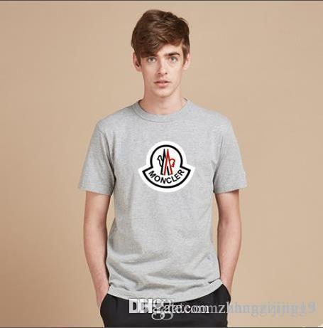 2019 moda primavera nuevos hombres de moda carta impresión camiseta cuello redondo camiseta fahsion camiseta estilo punk camiseta