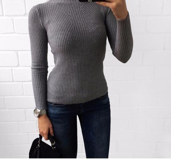 2019 warm und charme gestrickt rollkragenpullover mode frauen herbst hohe pullover langarm pullover pull femme
