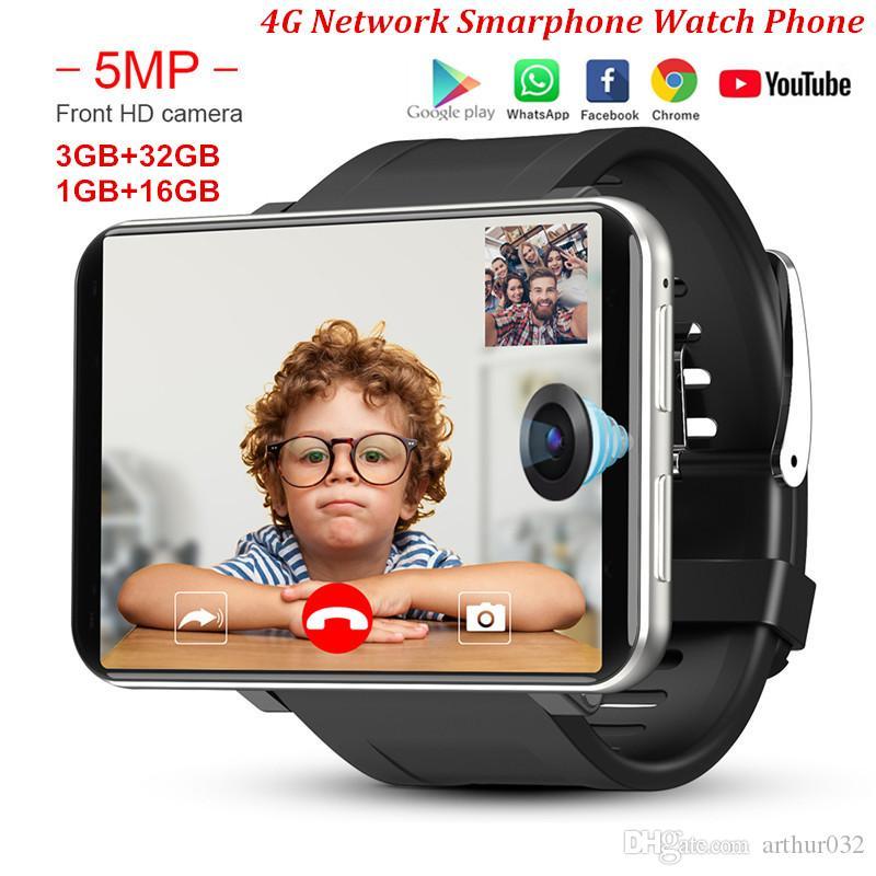 DM100 4G LTE inteligente Watch Phone Android 7.1 3GB 32GB 5MP MT6739 2700mAh Bluetooth moda Smartwatch Homens PK AEKU I5 Além disso DM99