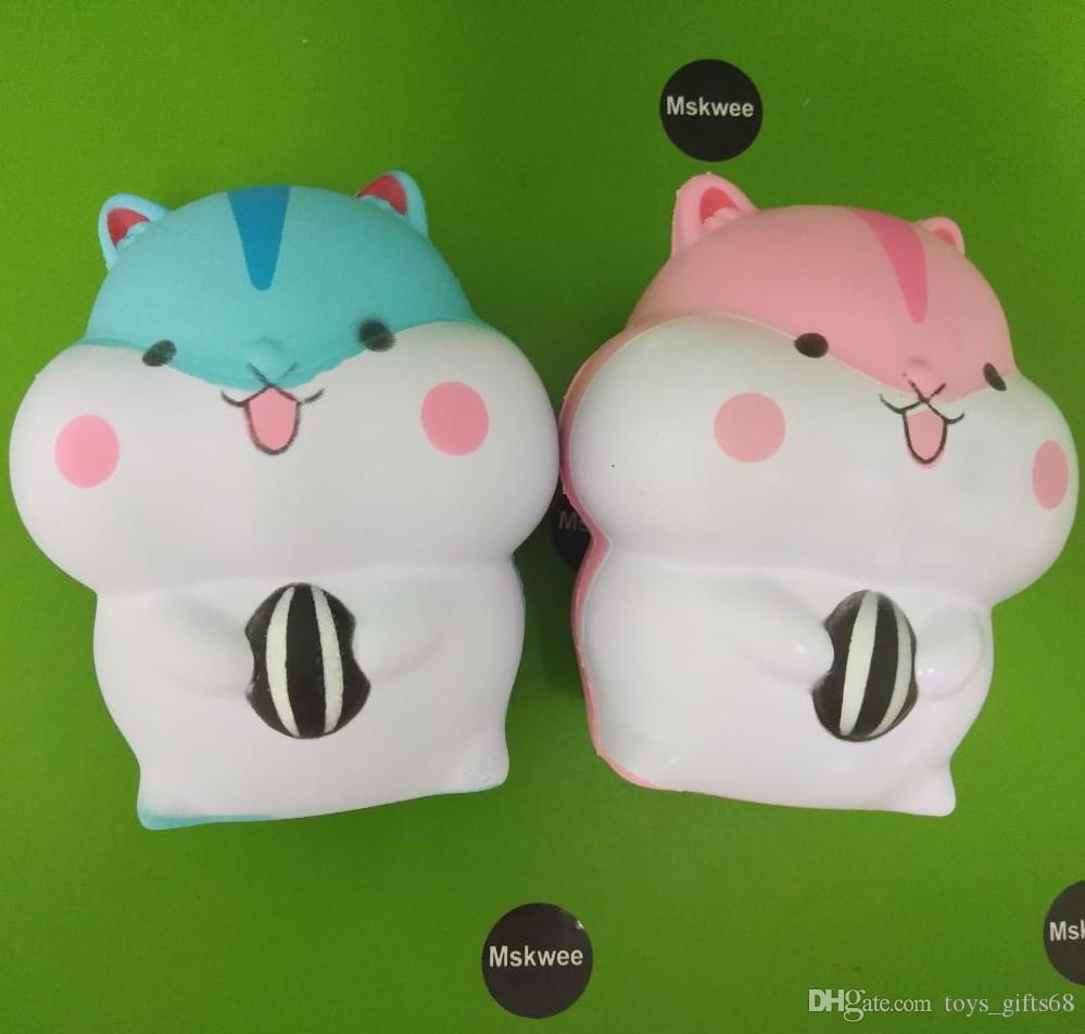 Simulação Hamster Squishy PU Lenta Rebote Hamster Brinquedo Das Crianças Brinquedos de Descompressão Beliscar Brinquedos Autismo Crianças Brinquedos de Aprendizagem Precoce