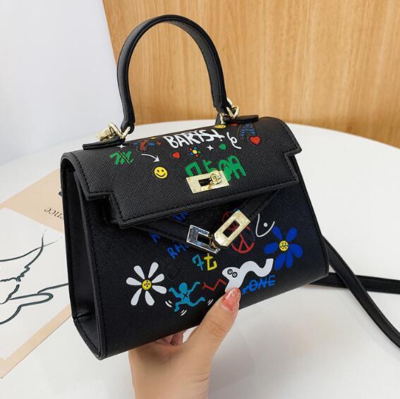 2020 Mini Kely Bolsas Lady pequeno Crossbody Bag mulheres dos grafittis Bolsas de Ombro Messenger Bag