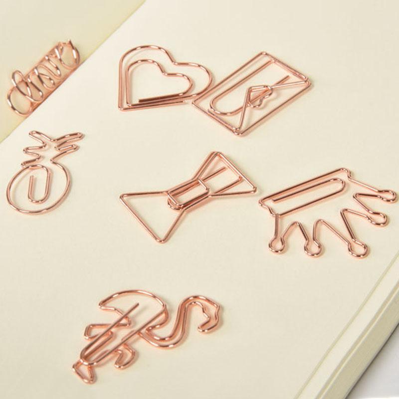 لوازم كليب الإبداعية ورقة المعادن وردة نوع ذهب ولي العهد فلامنغو ورقة كليب المرجعية كليب مذكرة مخطط مدرسة مكتبية BH2529 TQQ