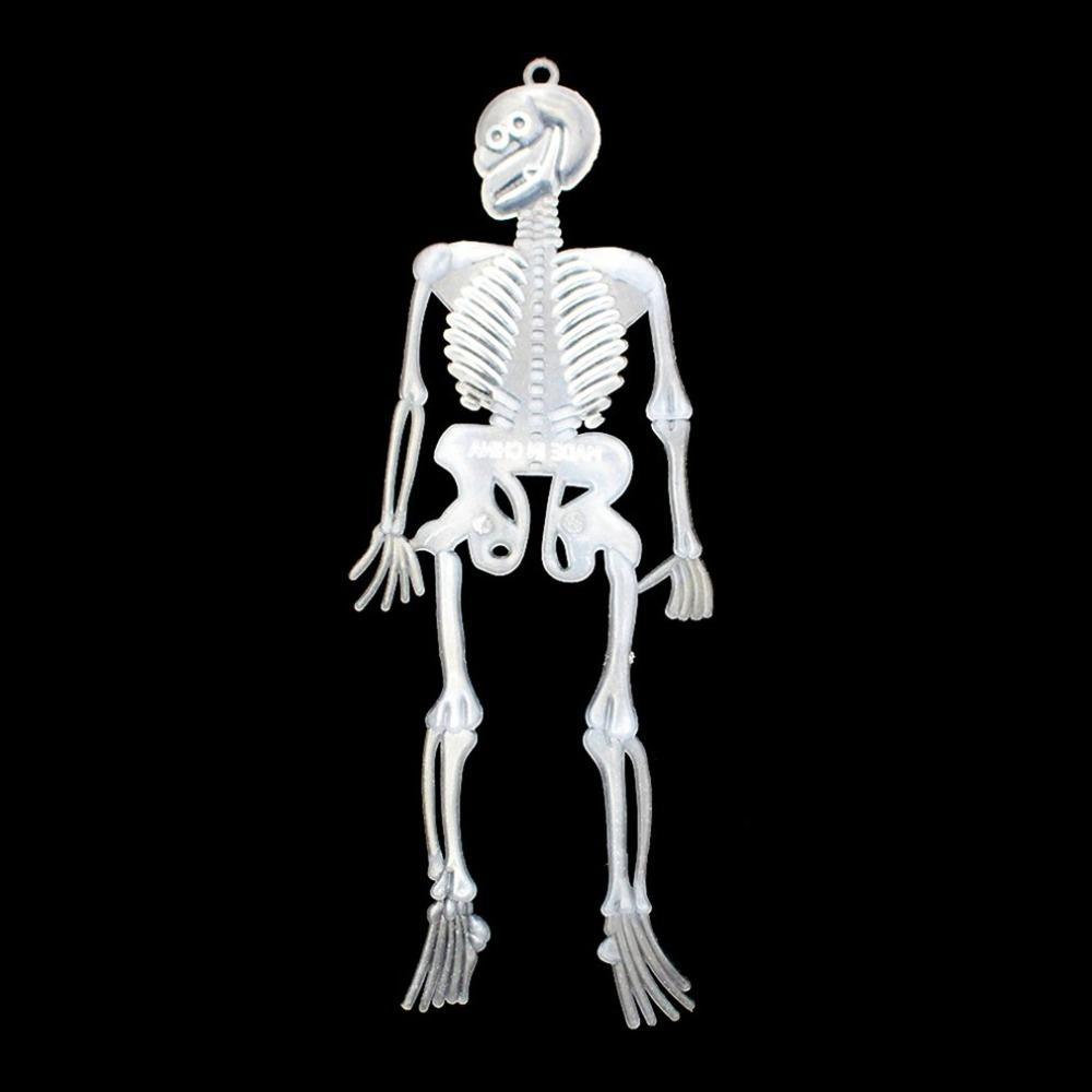 Skeleton Human Model Skull Full Rubber Body Mini Figure Toy Phone Hanger Gift