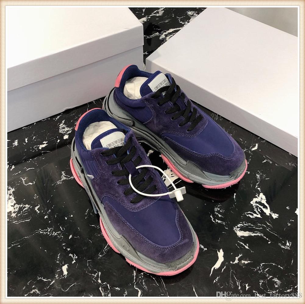 en kaliteli hakiki deri altın ile erkekler için Yeni Moda Erkekler lüks Tasarımcısı ayakkabı çizgili spor ayakkabısı beyaz boyut 38-45 Deri ace kırmızı 703