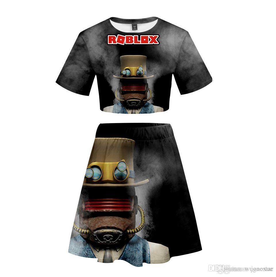 2020 Roblox 2019 New 3d Short Skirt Suit Short Sleeve T Shirt And
