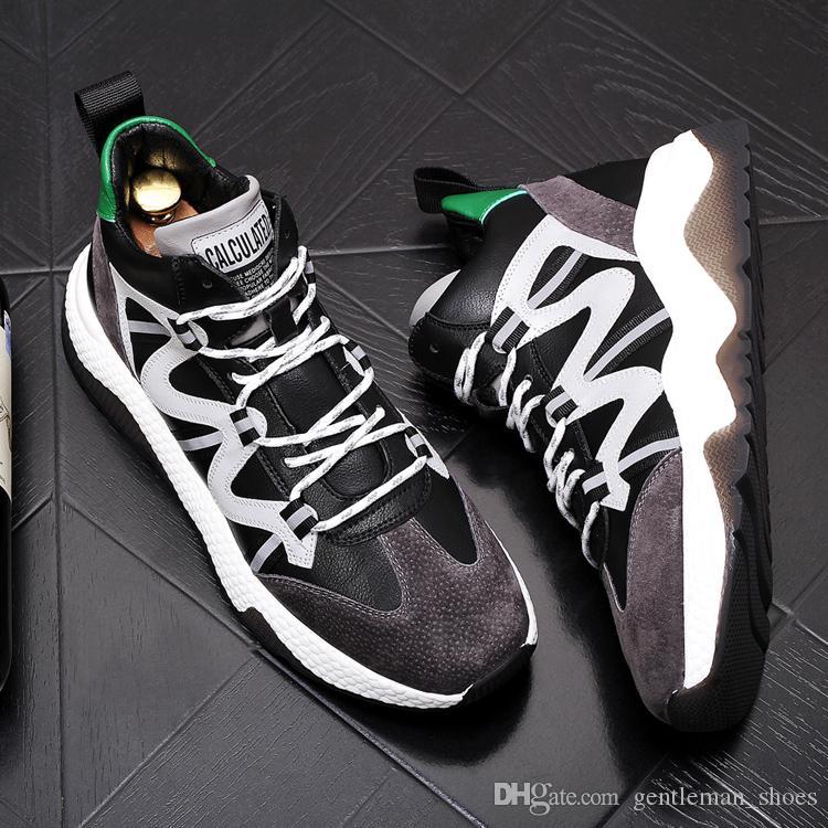 nuovo arrivo di inverno del progettista degli uomini Scarpe breve peluche Mocassini alto-top scarpe piane scarpe casual dei bottini Heren shoes 185