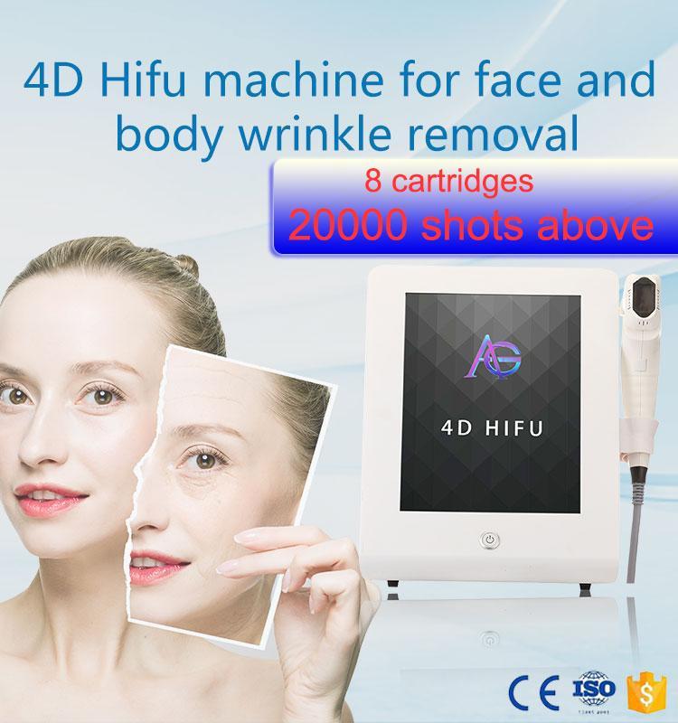 12 개 라인 노화 얼굴 리프팅 주름 제거 감량 콜라겐 재생 자극 엉덩이 리프팅 HIFU 기계 8 카트리지 내지 4d