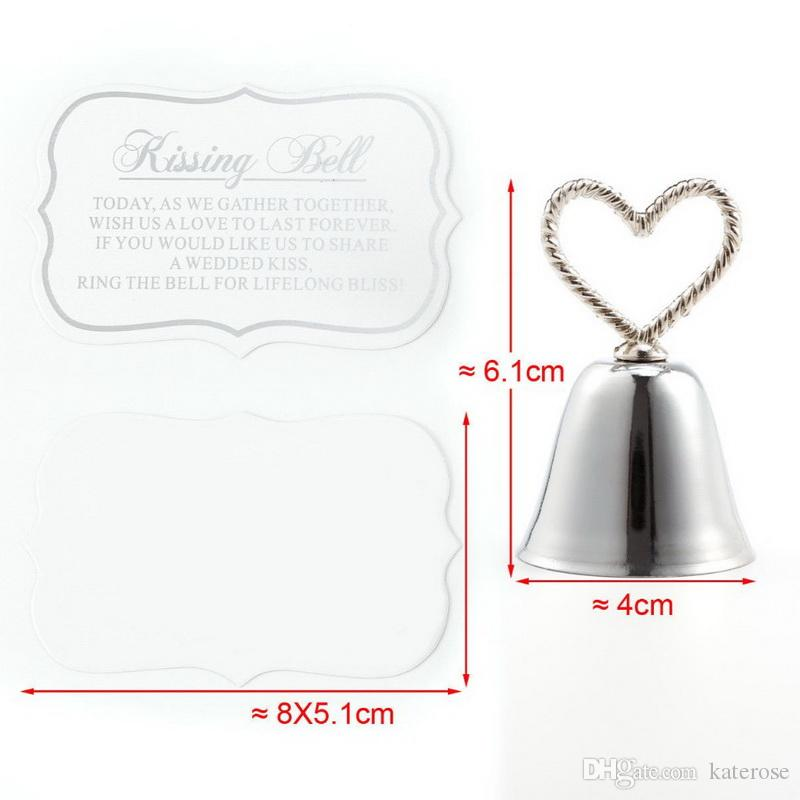 10PCS Kissing Bell Silver Place Card/Photo Holder Wedding Table Decoration Favors