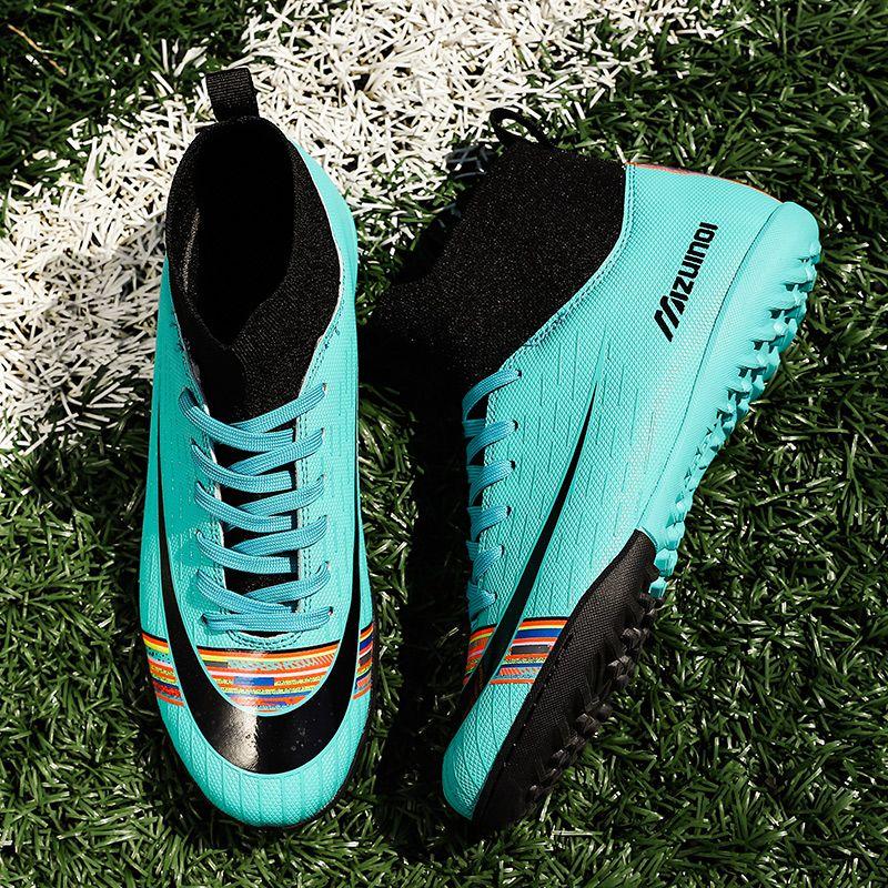 أحذية كرة القدم أحذية رجالية كرة القدم للأطفال لكرة القدم أحذية النساء في الهواء الطلق العشب احذية التدريب تنفس أحذية كرة القدم عدم الانزلاق أحذية