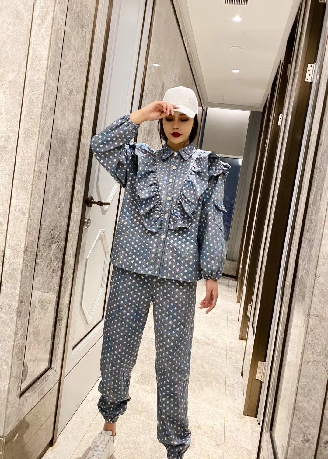 New alta qualidade senhoras calças sets encabeça + calças 2pcs 2020 melhor roupas da moda * 511