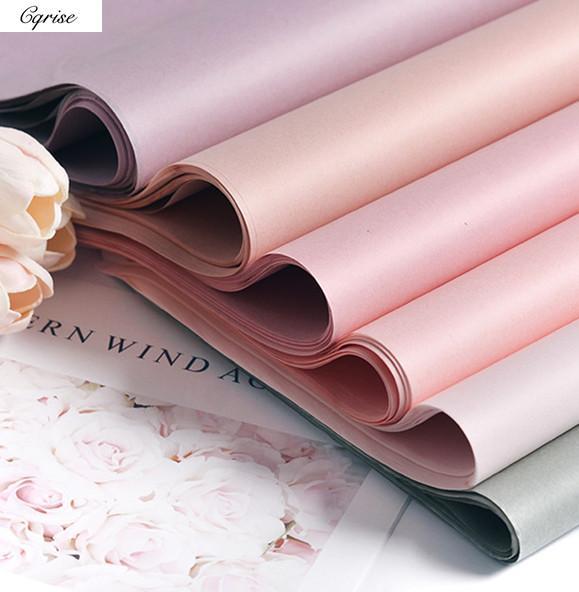 40 unids papel de seda 75*52 cm papel artesanal envoltura floral regalo embalaje decoración del hogar fiesta festiva suministro
