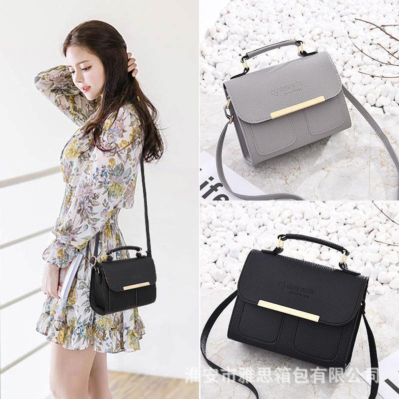 Pretty2019 Summer Bag Woman Oblique Tide Satchel Single Shoulder Handbag Small Square Package